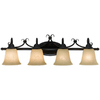 Bel Air Lighting 4-Light Bronze Bathroom Vanity Light