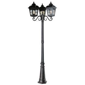 order trans globe lighting 3 head outdoor antique rust pole