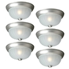 Utilitech 6-Pack 9-7/8-in W Brushed Nickel Ceiling Flush Mount