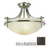 Portfolio 21-1/2-in Oil-Rubbed Bronze Frosted Glass Semi-Flush Mount Light