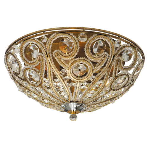 Zoomed: Portfolio Brass Ceiling Flush Mount