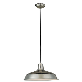 Portfolio 15-1/2-in W Stainless Steel Mini Pendant Light with Metal Shade