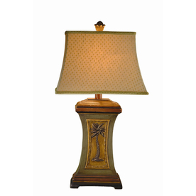 Bel Air Lighting 29.75-in Multi-Color Indoor Table Lamp with Fabric Shade