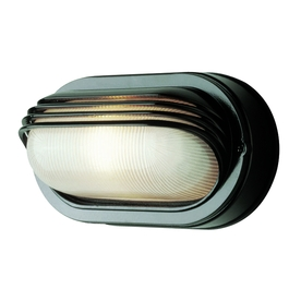 Portfolio 8-1/2-in Black Outdoor Wall Light
