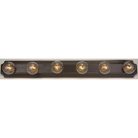 Bathroom Vanity Lights on Shop Portfolio 6 Light Bronze Bathroom Vanity Light At Lowes Com