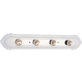 Bel Air Lighting 4-Light White Ceramic Traditional Vanity Fixture