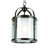 Bel Air Lighting 12-1/4-in W Oil-Rubbed Bronze Pendant Light with Clear Shade