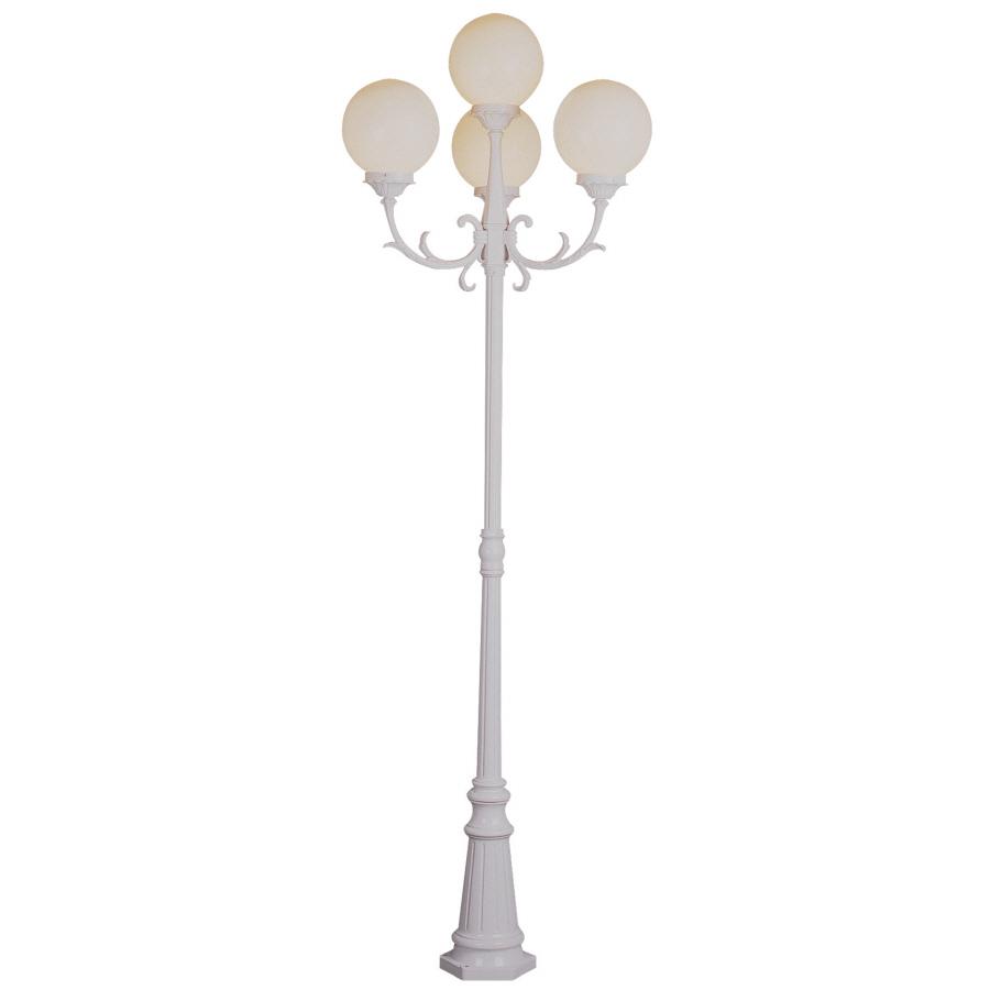 shop bel air lighting 4 light opal poly outdoor post light. Black Bedroom Furniture Sets. Home Design Ideas