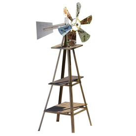 Garden Treasures 49.75-in H Windmill Garden Statue