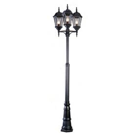 shop bel air lighting 3 light outdoor post light pole at. Black Bedroom Furniture Sets. Home Design Ideas