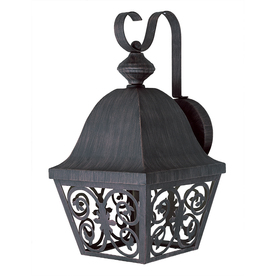 Bel Air Lighting 15-1/2-in Antique Rust Outdoor Wall Light ENERGY STAR