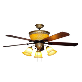 Bel Air Lighting 52-in Downrod Mount Ceiling Fan with Light Kit (4-Blade)