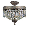 Portfolio 12-in Dark Bronze Ceiling Flush Mount
