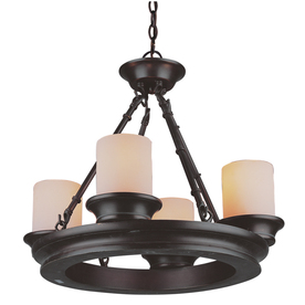 allen + roth 4-Light Oil-Rubbed Bronze Chandelier