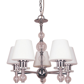 Bel Air Lighting 5-Light Polished Chrome Contemporary Chandelier