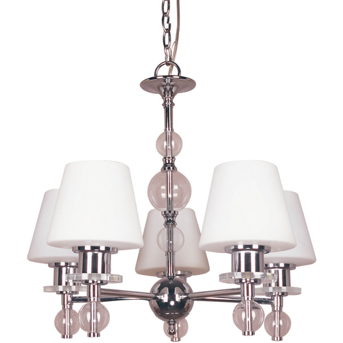 Zoomed: Bel Air Lighting 5-Light Chrome Chandelier