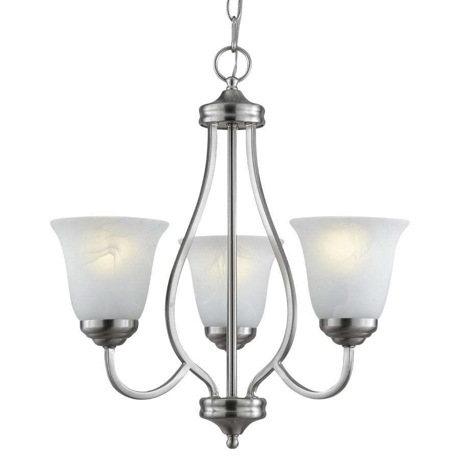 Shop Bel Air Lighting 3 Light Brushed Nickel Chandelier At