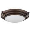 Portfolio 12-5/8-in Oil-Rubbed Bronze Ceiling Flush Mount