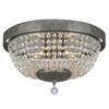 Portfolio 14-in Metallic Ceiling Flush Mount