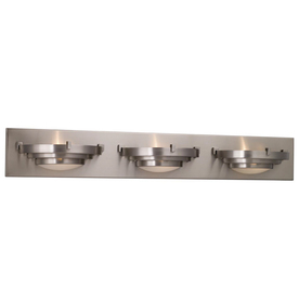 NEW PORTFOLIO BRUSHED NICKEL 3-LIGHT VANITY BAR eBay