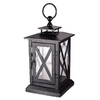 15.75-in H Black Metal Outdoor Decorative Lantern
