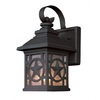 Portfolio 17-5/8-in Black Outdoor Wall Light