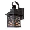 Portfolio 17.62-in H Black Outdoor Wall Light