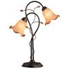Portfolio 24-in 3-Way Bronze Indoor Table Lamp with Glass Shade