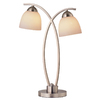 Portfolio 22-1/4-in Brushed Nickel Indoor Table Lamp with Glass Shade
