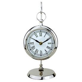 Bel Air Lighting 4.5-in Polished Nickel Table Clock