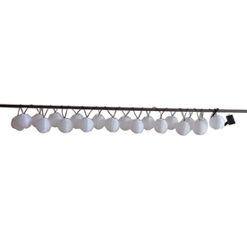 Garden Treasures 14.42-ft White Mini Bulb Cylindrical String Lights