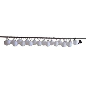 Garden Treasures 14.42-ft White Mini Bulb Cylindrical String Lights