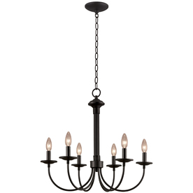 Portfolio 6-Light Black Traditional Chandelier