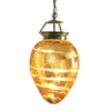 Portfolio 25-in W Antique Gold Kitchen Island Light with Glass Shade