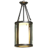 allen + roth 9-in W Dark Oil-Rubbed Bronze Pendant Light with Clear Glass Shade