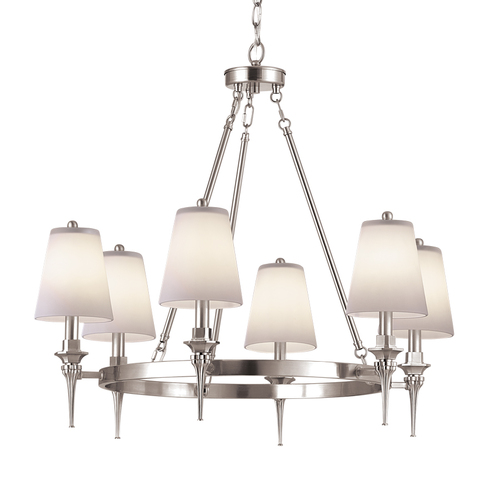 Zoomed: Portfolio 6-Bulb Chrome Chandelier