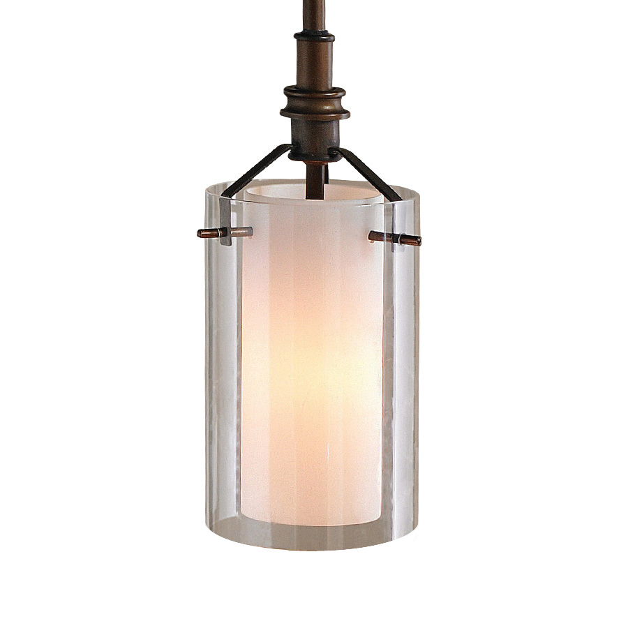 shop allen roth w oil rubbed bronze mini pendant light with clear g. Black Bedroom Furniture Sets. Home Design Ideas