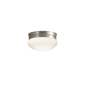 Portfolio 9-1/8-in Brushed Nickel Ceiling Flush Mount