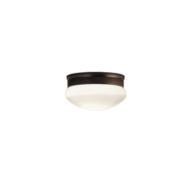Portfolio 9-1/8-in Oil-Rubbed Bronze Ceiling Flush Mount