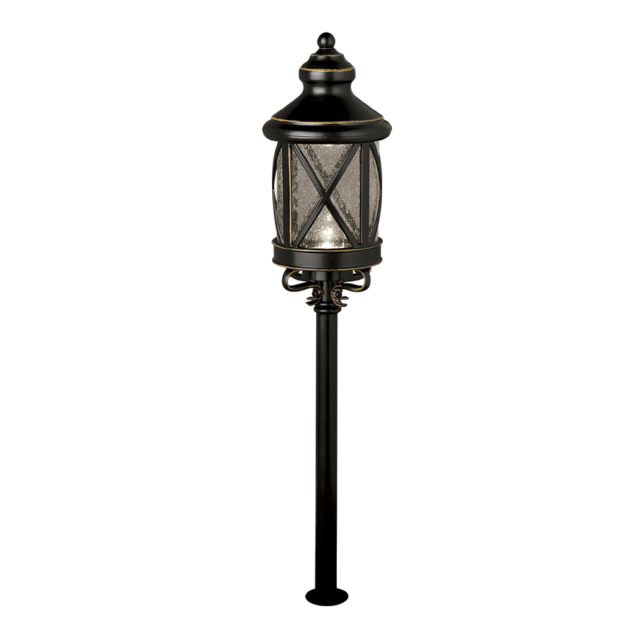 shop allen roth rubbed oil bronze low voltage led path light at. Black Bedroom Furniture Sets. Home Design Ideas