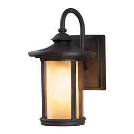 allen + roth 13-in Black Outdoor Wall Light