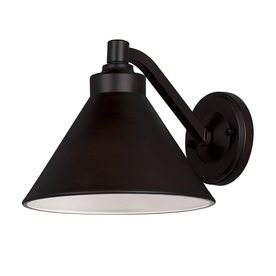 Portfolio 7-in Oil-Rubbed Bronze Dark Sky Outdoor Wall Light