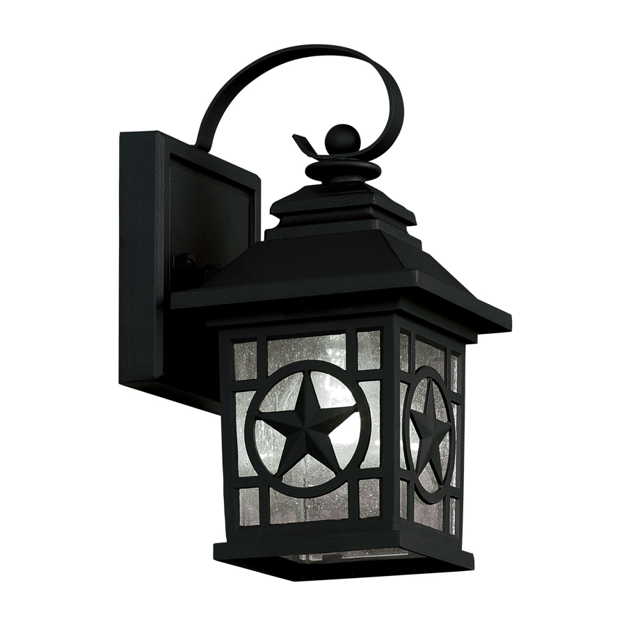 shop portfolio 2 pack h black outdoor wall lights at. Black Bedroom Furniture Sets. Home Design Ideas