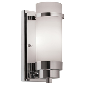 Portfolio 4.25-in W 1-Light Chrome Arm Hardwired Wall Sconce