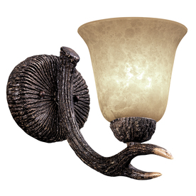 Portfolio 6.5-in W 1-Light Replica Deer Antler Arm Hardwired Wall Sconce