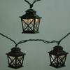 allen + roth 7.8-ft Black Mini Bulb Criss Cross Lantern Patio String Lights