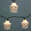Garden Treasures 7.8-ft White Mini Bulb Criss Cross Lantern Patio String Lights