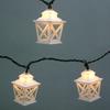 Garden Treasures 7.8-ft White Mini Bulb Criss Cross Lantern String Lights
