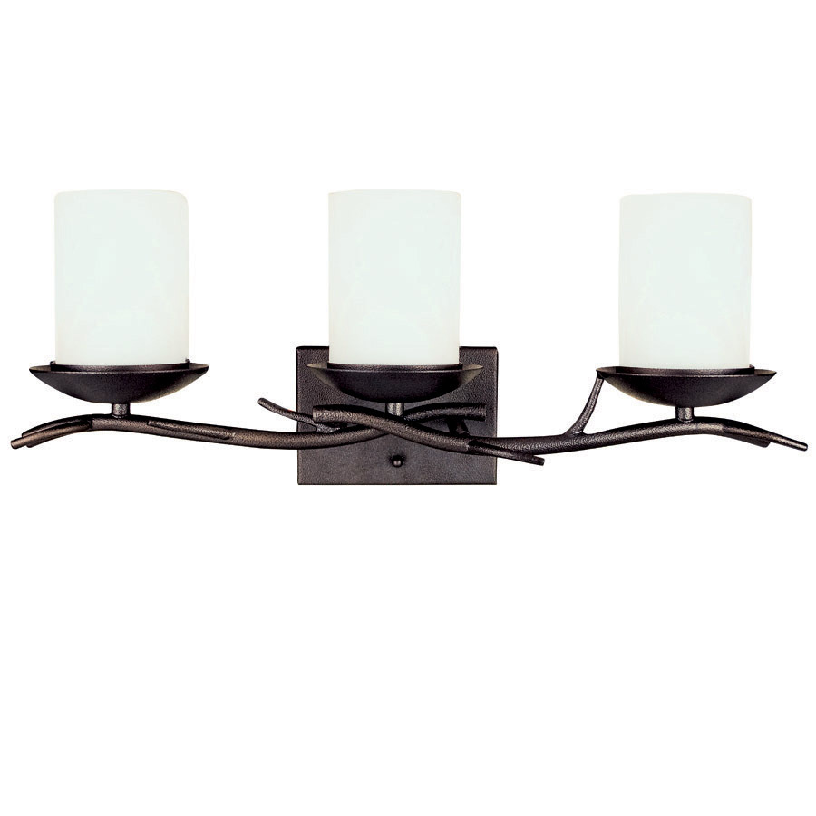 Shop bel air lighting 3 light oil rubbed bronze bathroom for Bathroom light fixtures lowes