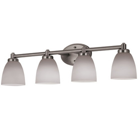 Portfolio 4-Light Brushed Nickel Bathroom Vanity Light
